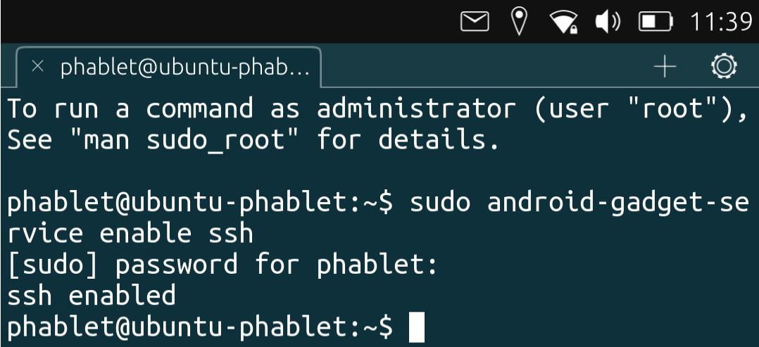"""""""access ubuntutouch via ssh"""""""